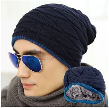 2014 winter beanie hat Men more add wool knitted cap in the fall and winter outdoor fashion warm hat head cap  free  shipping