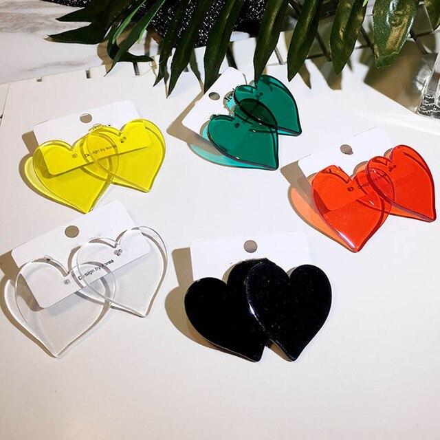 Простой дизайн геометрические серьги женские прозрачные акриловые сережки серьги для женщин Brincos Ювелирные Изделия