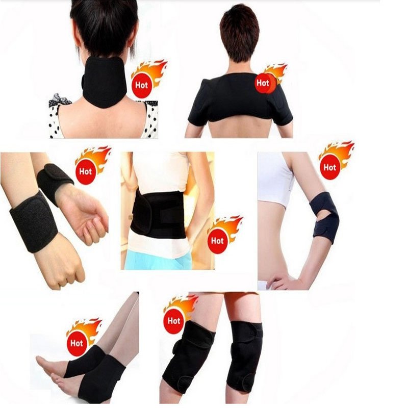 Tourmaline self-heating waist support belt knee pad neck shoulder pad ankle elbow support 7 in 1 set Magnetic Therapy 11 pcs joelheira magnética alívio