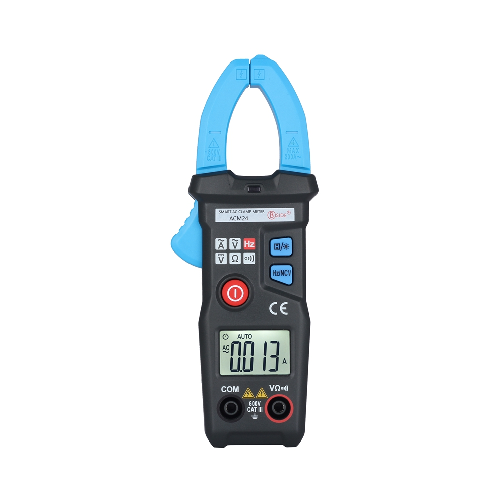 BSIDE ACM24  Smart Mini Digital AC Clamp Meter Multimeter with Resistance frequency data hold NCV teste