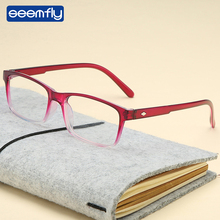цена на Seemfly Fashion Glasses Magnifier Anti Blue Rays Eyewear Reading Glasses Portable Gift For Parents Presbyopic Magnification