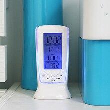 Светодиодный цифровой ЖК-будильник календарь термометр с голубой подсветкой Настольные часы reloj despertador Прямая поставка