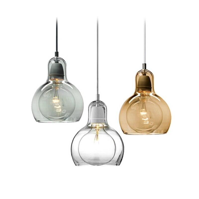 Modern minimalist led glass pendant light retro led for Luminaire suspension moderne