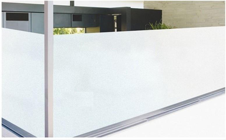 Samolepící matná / leptaná neprůhledná dekorativní matná ochranná fólie do oken Skleněné fólie Čistě matná bílá