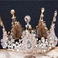 Elegance Bride Crystal Hair Accessories Wedding Tiaras and Crowns Bridal Crown Tiara Suite for Luxury Rhinestone Pageant Crowns