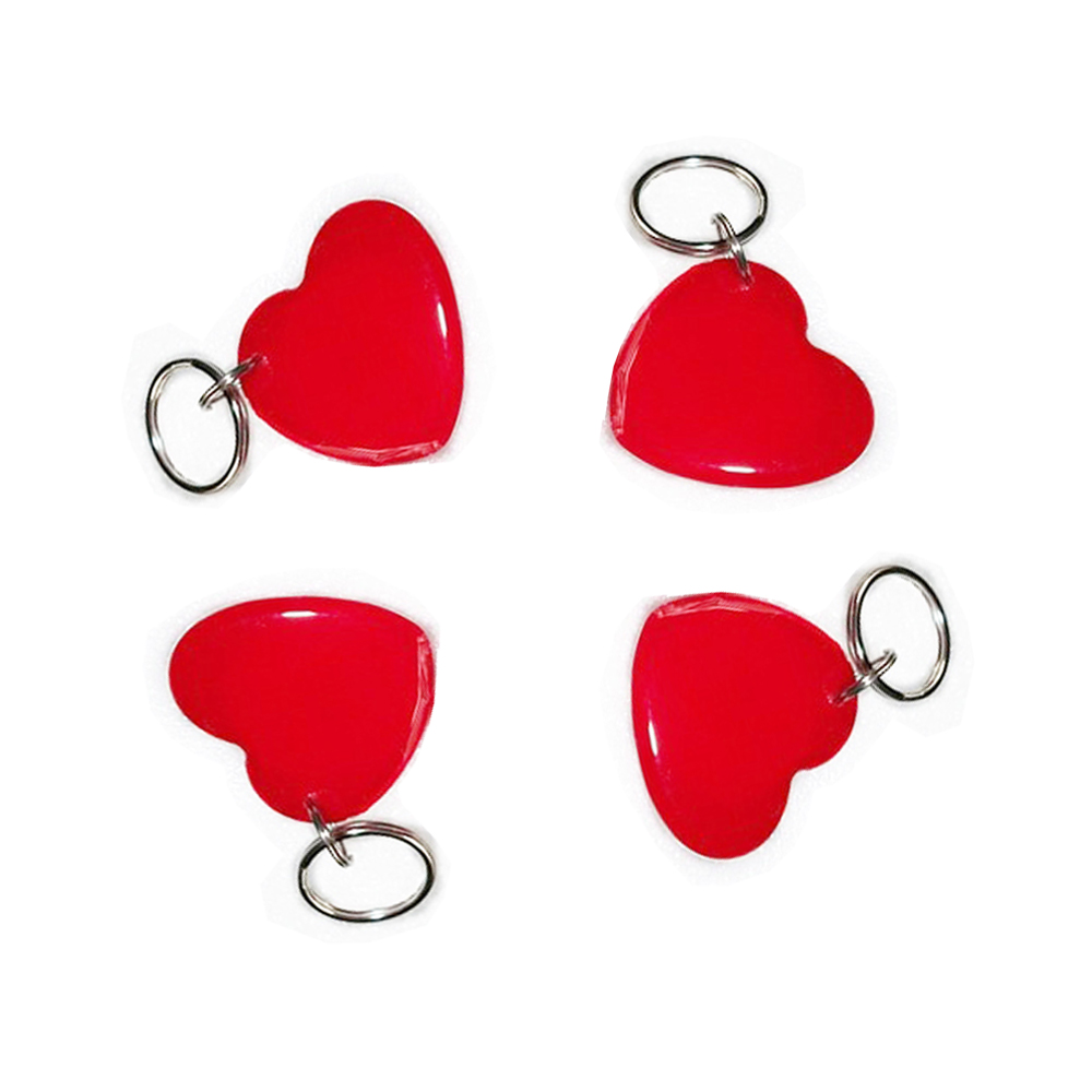 10pcs Red 13.56MHZ Classic 1K ABS ISO14443A  IC Key Fobs Access Control Keychain RFID Smart Card Tag