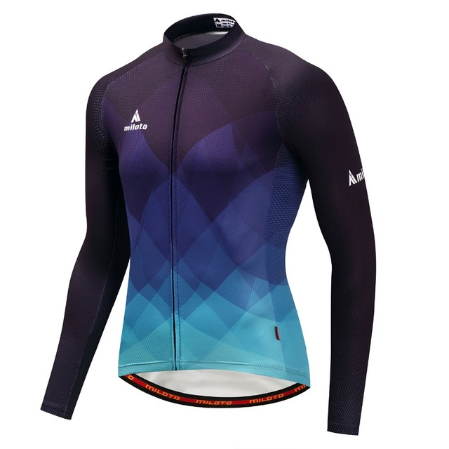 Pro Cycling jersey Men Bike Jersey Top MTB bicycle clothing Long Sleeve  Maillot Summer T-Shirt Racing Autum Blouse Black Blue ac9638005
