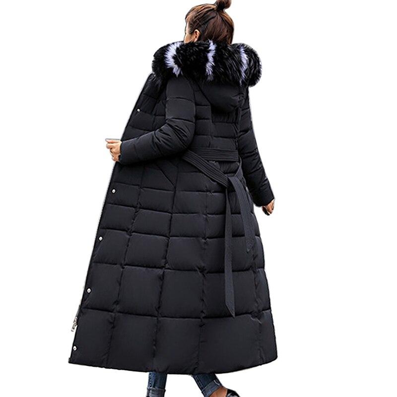 New Thick Cotton Padded   Parka   2018 Women Winter Jacket Fashion Hooded Warm Slim long Overcoat Coat Women Elegant   Parka   Female