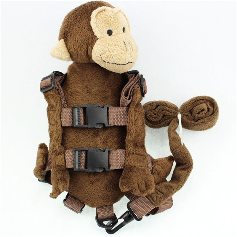 2 In 1 Harness Buddy Chimp For Boy Girl Babi Safety Animal Backpacks Bebe Walking Reins Toddler Leashes GB-012