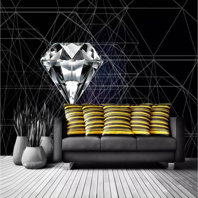Desktop Abstract Wallpaper For Walls Home Decor Modern Living Room Background Wall Murals Bedroom Diamond