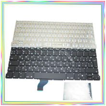 Brand new Russian RU Keyboard without Backlight & keyboard screws for Macbook Retina 13.3″ A1502 2013 2014 2015Years
