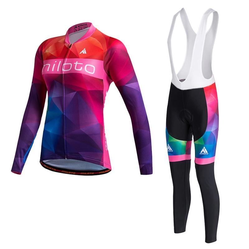 Women Long Sleeve Cycling Jersey