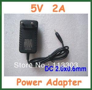 10 sztuk 5 V 2A zasilacz bateria tableta ładowarka ścienna dla FreeLander PD20 PD10 Tablet DC 2.0x0.6mm