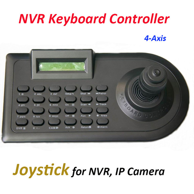Nvr Control Keyboard 4 Axis Joystick For Ip Nvr Rs485 Ip