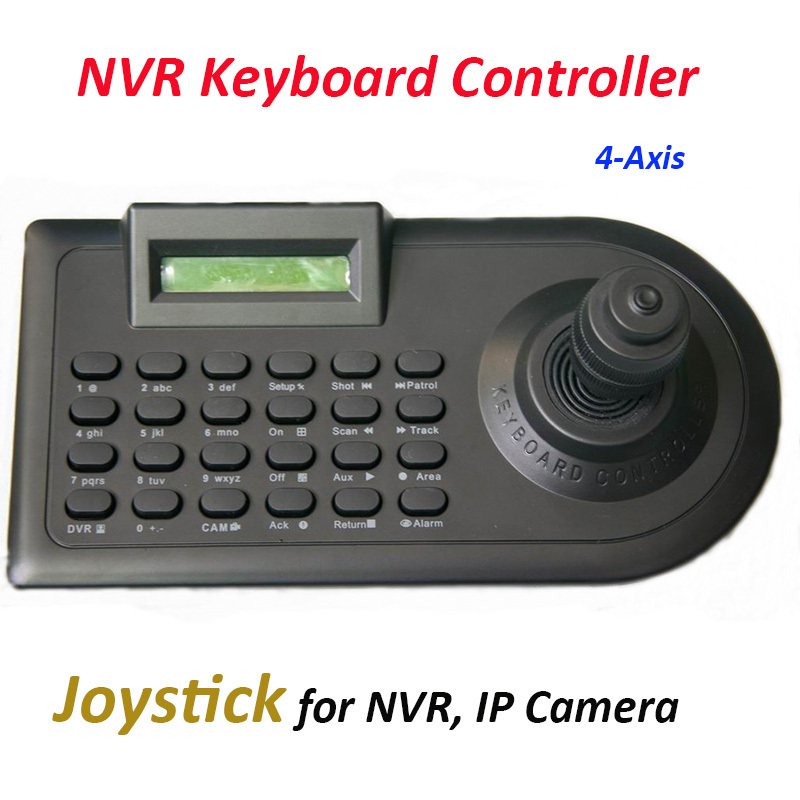 NVR Control Keyboard 4 Axis Joystick for IP NVR RS485 IP PTZ Controller Keyboard only for branded HIKVISION DAHUA AEVISION NVR