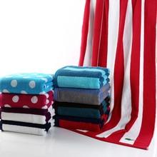Европейский и Американский стиль красочные хлопчатобумажной пряжи, окрашенной цвета полотенце/пляжное полотенце Полосатый пятна утолщаются мягкие взрослых домашний Текстиль