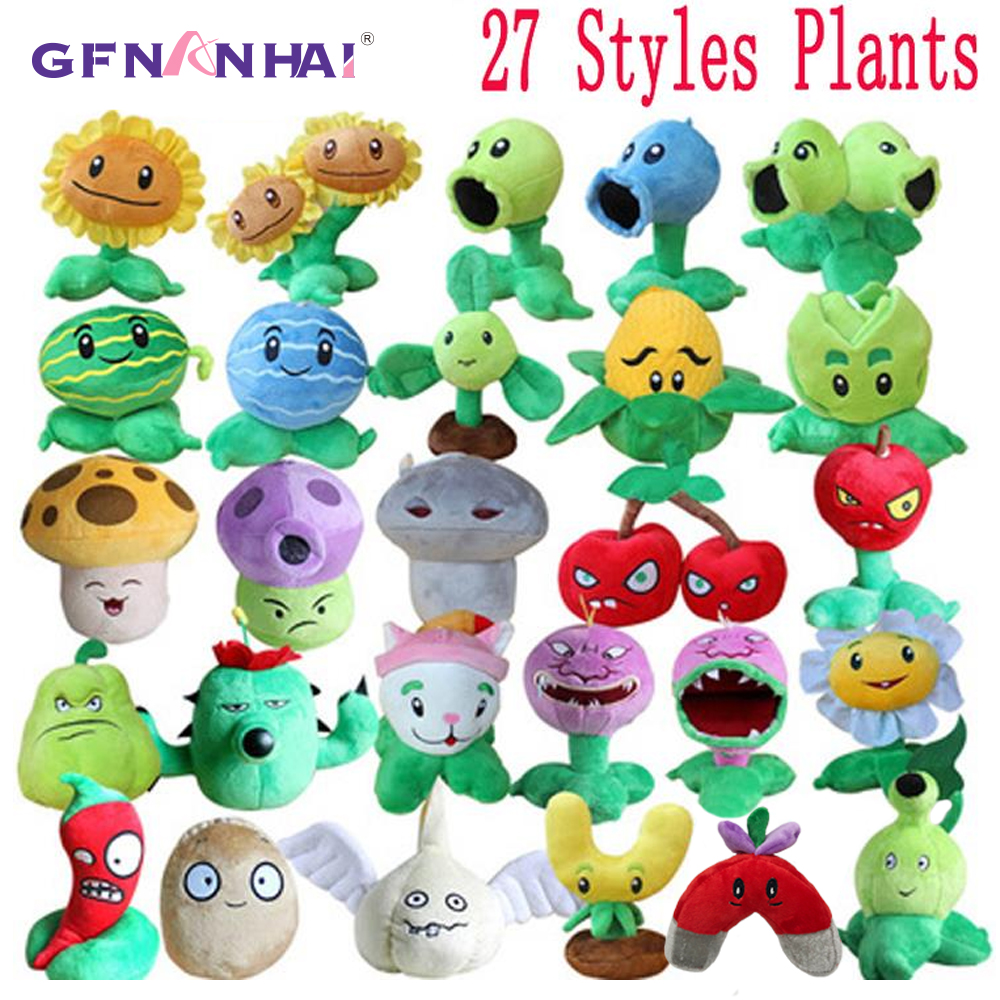 1 pc 13-20 cm 27 styles plantes vs Zombies jouets en peluche PVZ plantes en peluche jouets en peluche doux jeu jouet pour enfants enfants cadeaux d'anniversaire