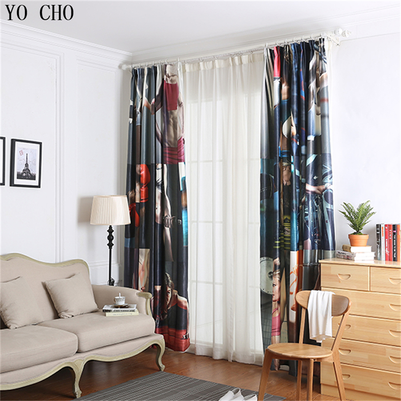 YO CHO 3d Window Curtain Fitness Tribal Pattern Curtains Blackout For Living  Room Dance Yoga Room Curtains Cortinas Cocina In Curtains From Home U0026  Garden On ...