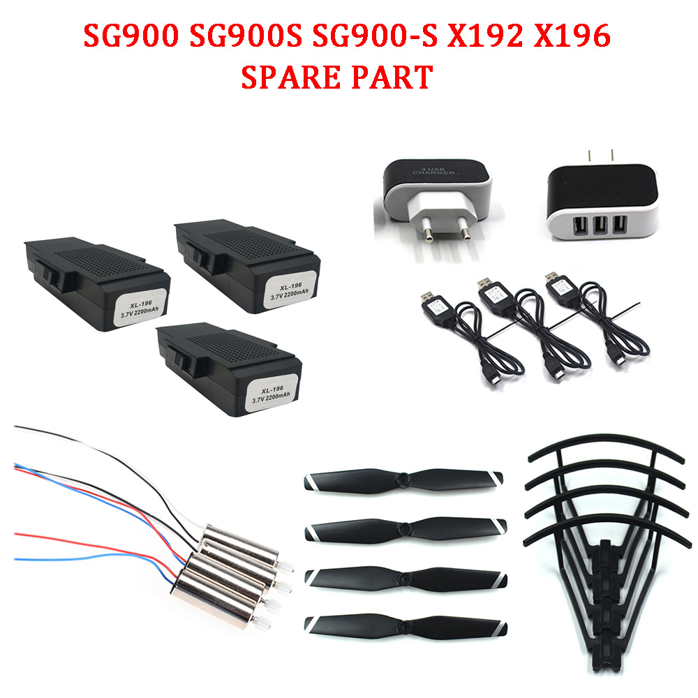 SG900 SG900-S Drone Parts 4pcs Propeller,  Protective Frame, Spare Motor,spare Battery,spare Part For Sg900s X192 X196