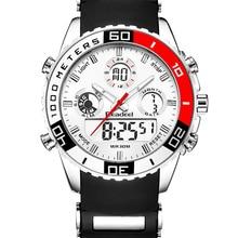 Montre de sport étanche pour hommes, montre à Quartz numérique militaire, deux Zones horaires, nouvelle marque, alarme chronomètre
