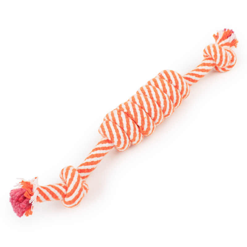 חבל כותנה לחיות מחמד צעצועים חמוד מצחיק טוחנת שן כלב לנשוך צעצועי ביס עמיד מארג בובות לתפוס לעיסת טיזר לשחק אינטראקטיבי צעצוע