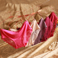 Dimisyoo Sexy Underwear Women DuPont Fabric Comfort Seamless Panties Women Lace Briefs 4PCS Lot BW060 Free