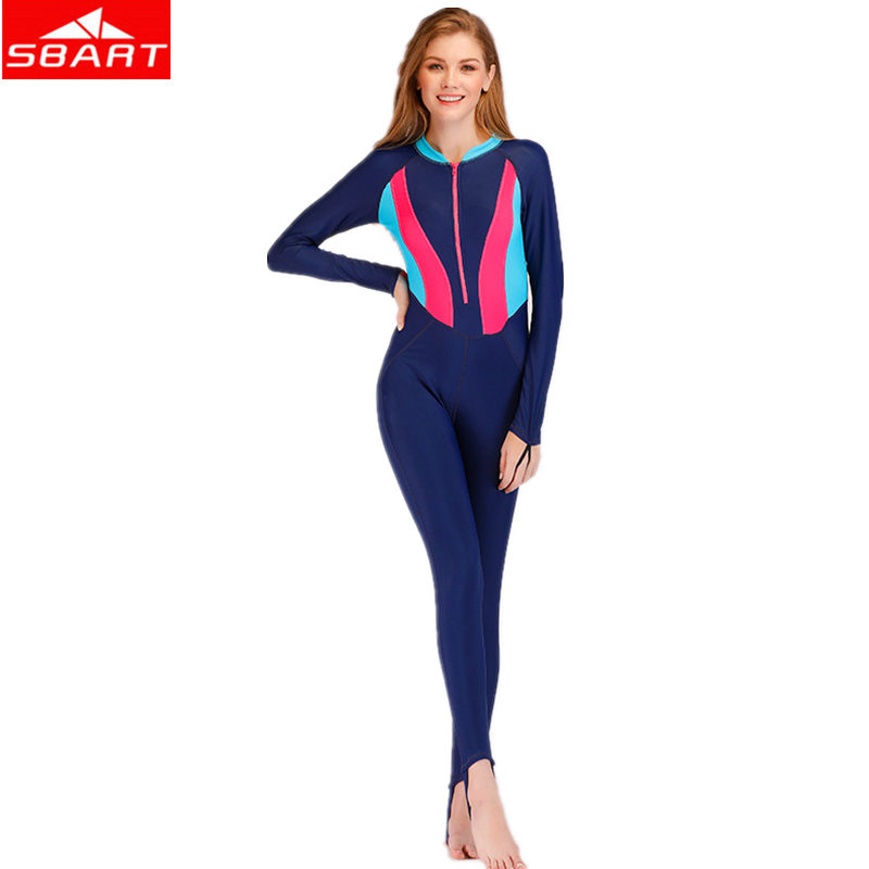6600018ff3569 Detail Feedback Questions about SBART Women One Piece Wetsuit Female Long  Sleeve Zipper Diving Suit Sunscreen Protect Swimming Surfing Snorkeling  Diving ...