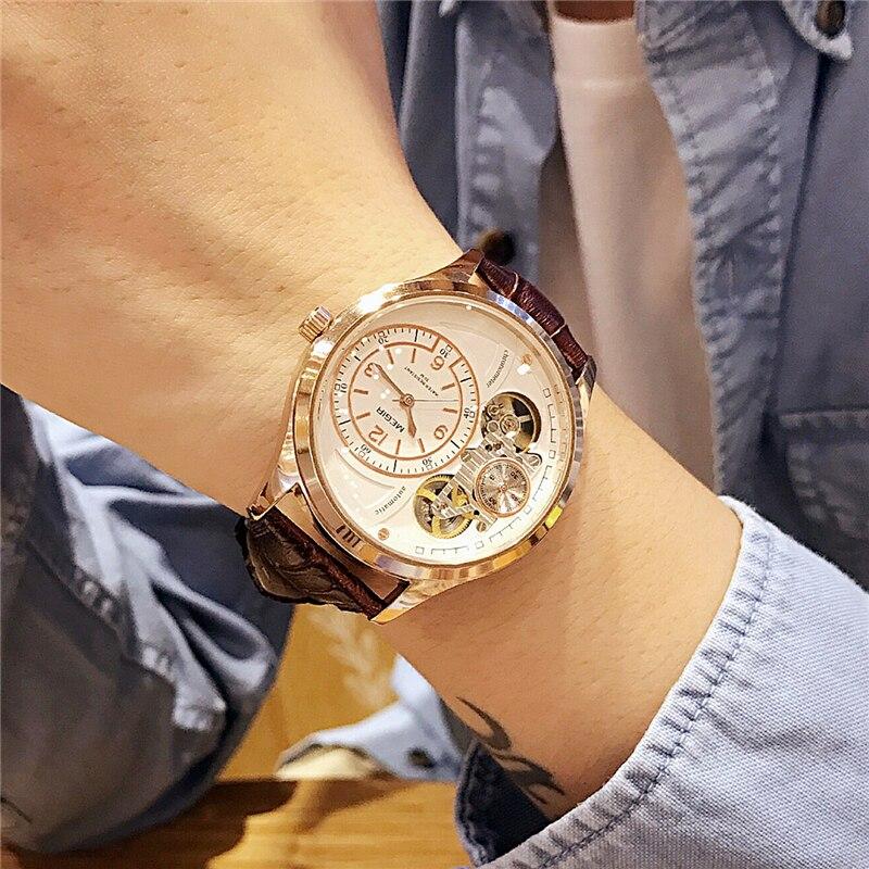 MEGIR хронограф для мужчин часы лучший бренд класса люкс пояса из натуральной кожи Военная Униформа multi повседневные часы мужской relogio