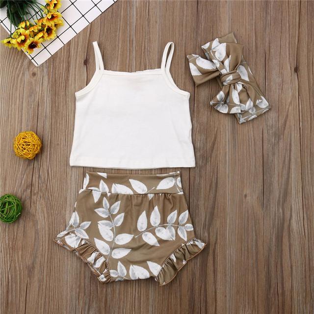 3PCS Summer Clothing Set Pudcoco Brand  newborn baby girl clothes  roupa de bebe menino baby outfit