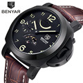 Top Brand Luxury Men's Sports Watch Auto Mechanical Leather Watch Stainless Steel Case Auto-date Wristwatch for Men reloj hombre