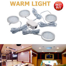 4x 12V Interior LED Spot Light Warm Light For Camper Van Caravan Motorhome font b Lamp