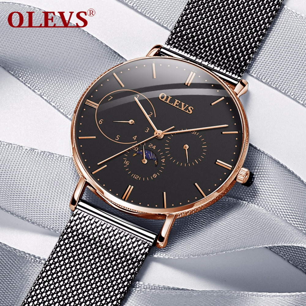 Watch men Waterproof Fashion Auto date relogio masculino montre homme High quality Japan Quartz watch Rose golded womens watches