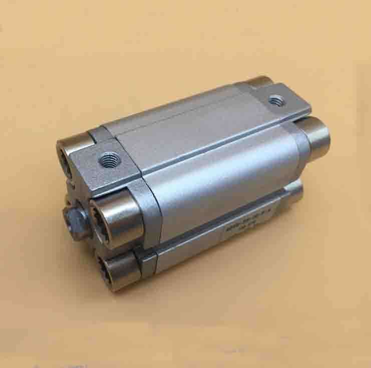 bore 25mm X 25mm stroke ADVU thin pneumatic impact double piston road compact aluminum cylinder