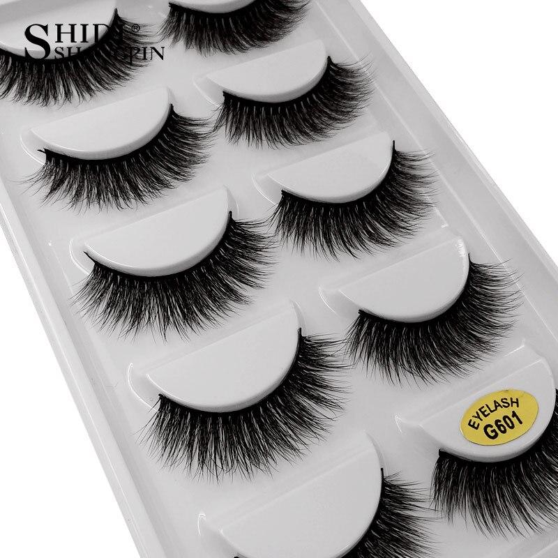 SHIDISHANGPIN 5 pairs false eyelashes natural long makeup false lashes hand made