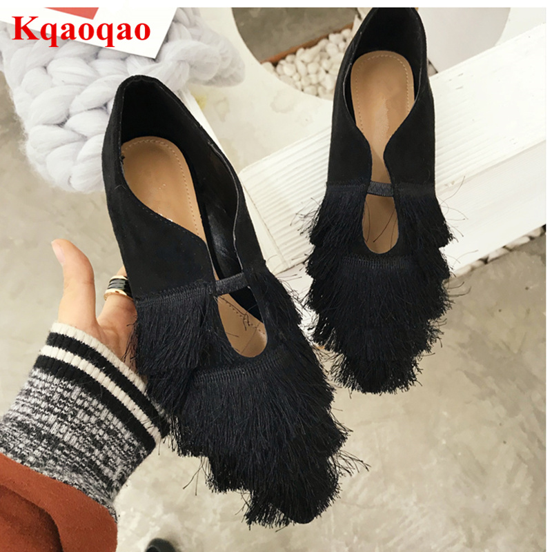 2018 Women Casual Shoes Girl Women Flats Round Toe Slip On Lazy Shoes Women Loafers Tassel Embellished Sapato Feminino Low Top new shallow slip on women loafers flats round toe fishermen shoes female good leather lazy flat women casual shoes zapatos mujer