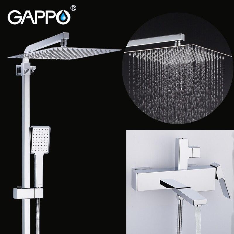 Gappo conjunto torneira do chuveiro do banheiro sistema de chuveiro chuva banheira torneiras misturador do chuveiro banho cachoeira cabeça de chuveiro misturadora