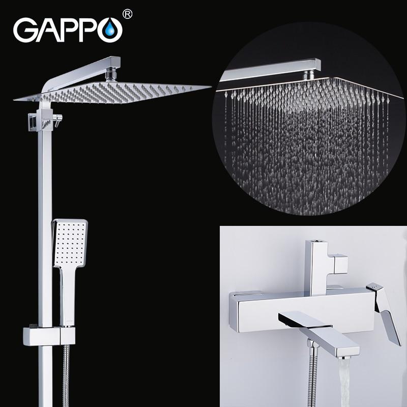 GAPPO rubinetto doccia set da bagno doccia a pioggia sistema di rubinetteria vasca da bagno doccia miscelatore rubinetto Vasca Da Bagno doccia a cascata testa miscelatore torneira
