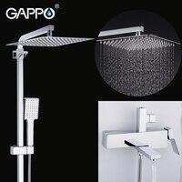 Gappo conjunto torneira do chuveiro do banheiro sistema de chuveiro chuva banheira torneiras misturador do chuveiro banho cachoeira cabeça de chuveiro misturadora|Torneiras p/ chuveiro| |  -