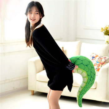 Fancytrader Pop Anime Plush Dragon Tail Pillow Toys Soft Simulated Animals Tail Doll Decoration 80cm 31inch