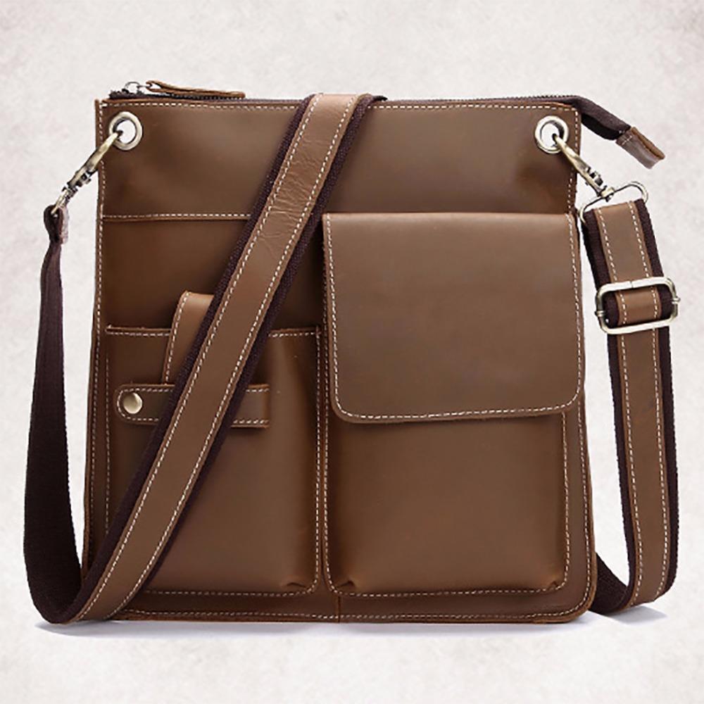 Crazy Horse Cowhide Men Briefcase Famous Brand Business Tote Handbag Cross Body Designer Genuine Leather Messenger Shoulder Bag joyir men briefcase real leather handbag crazy horse genuine leather male business retro messenger shoulder bag for men mandbag