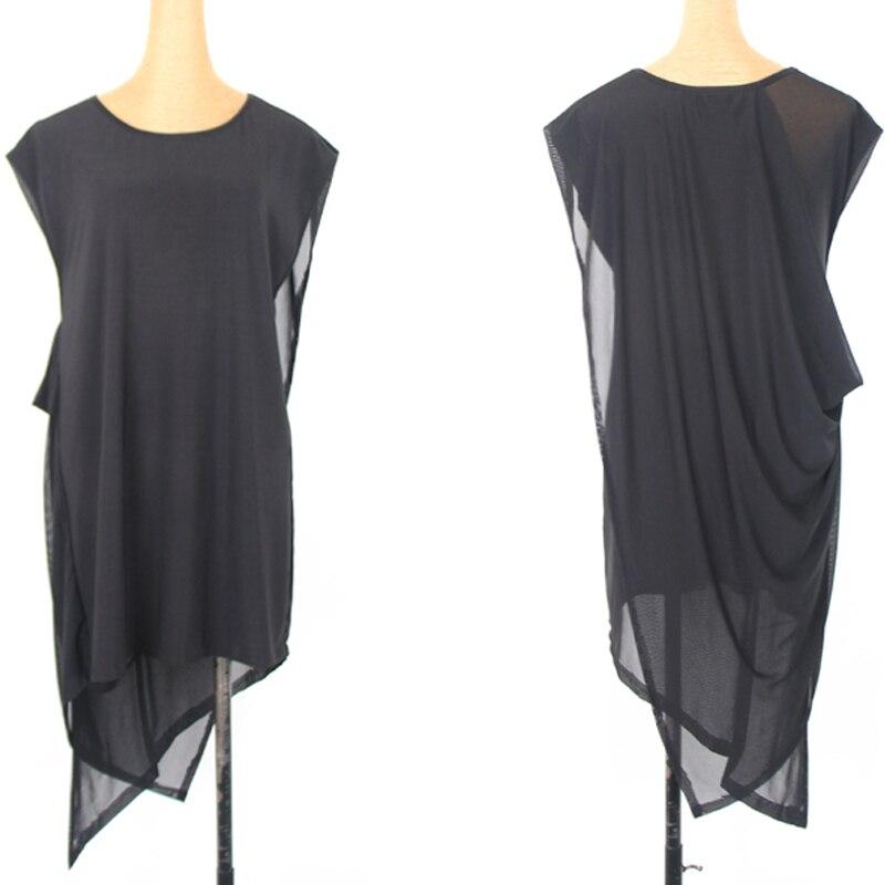 Latin Dance Dress Ladies Black Loose Net Yarn Women Rumba Cha Cha Samba Salsa Tango Clothing Adult Dancing Practice Wear DN3572