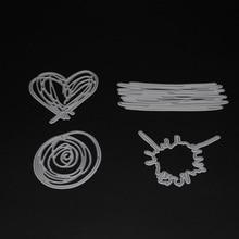4pcs/set Heart Ring die cuts,metal die cutting dies in scrapbooking embossing folder suit for cutting machine