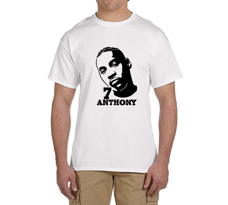 2017 Carmelo Anthony men t shirt Cotton round collar short sleeve T-shirt mens t shirts  ...