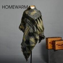 Winter Warm Blanket Cashmere Scarf Women Chic Knit Tartan Oversize Scarves Shawl Women Bandana Designer Square