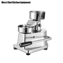 ITOP 100mm-130mm Manual Hamburger Press Burger Forming Machine Round Meat shaping Aluminum Patty Makers