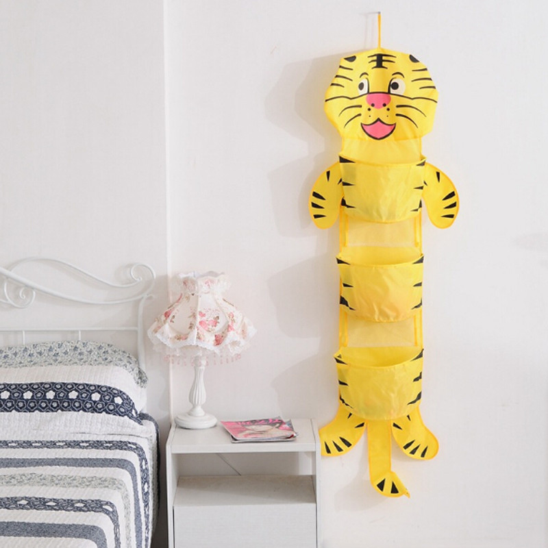 Cute Animal Collapsible Toy Storage Organizer Folding: Multifunction Polyester Hanging Storage Animals Bags Big
