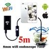 Endoscope 8mm 1m 2m 720P Borescope Wifi Endoscope Waterproof Wi Fi Camera Android IOS Phone Wi