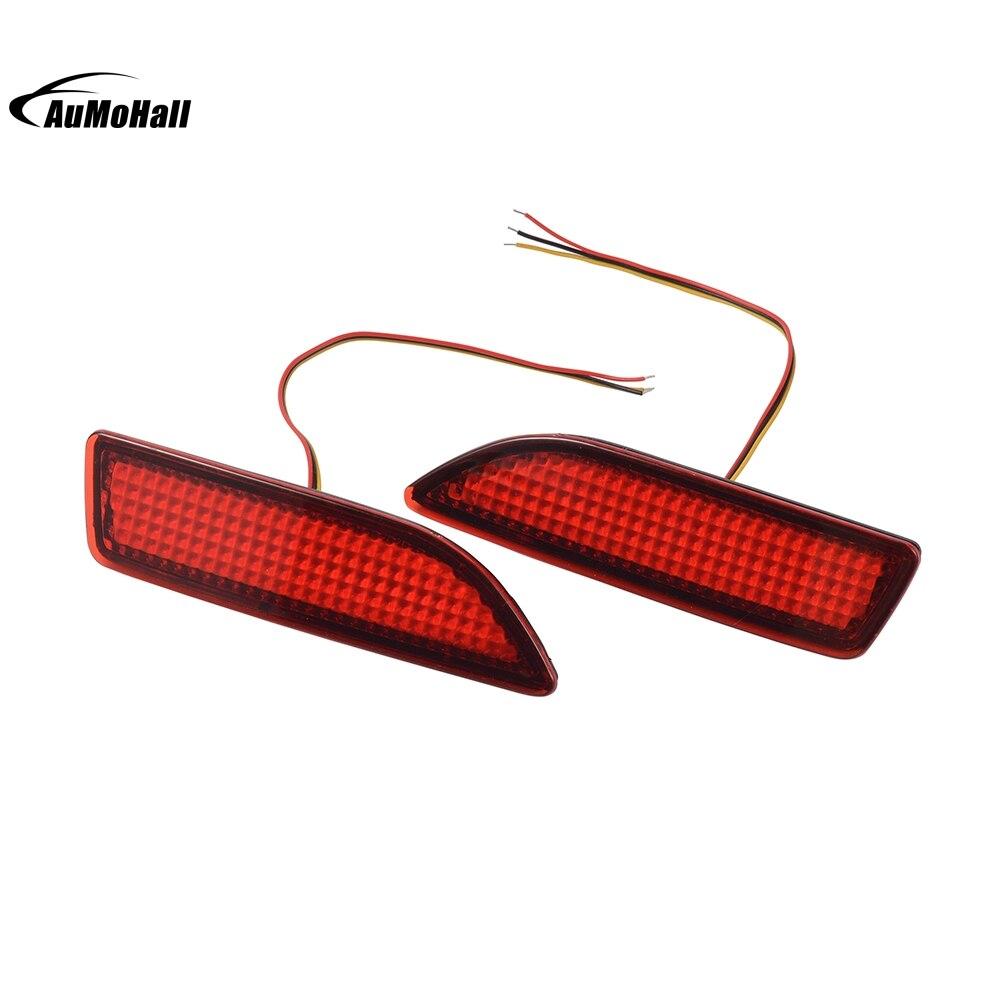 Car Styling Car Rear Bumper Red Led Lamp External Lights Fog Brake Light