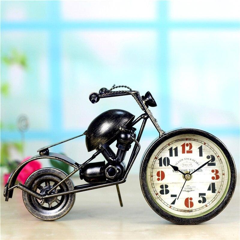 Amerikaanse Retro Wandklok Persoonlijkheid Motorfiets Accessoires Decoratieve Muurschildering Woondecoratie Reloj De Pared Z007