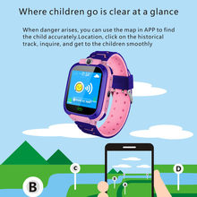 2019 Fashion New design Kids Smart Watch Wrist GPS Tracker for Boys Girls with Camera with various smartphones make calls(China)